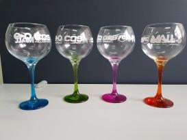 Copas de Vidrio con base de color
